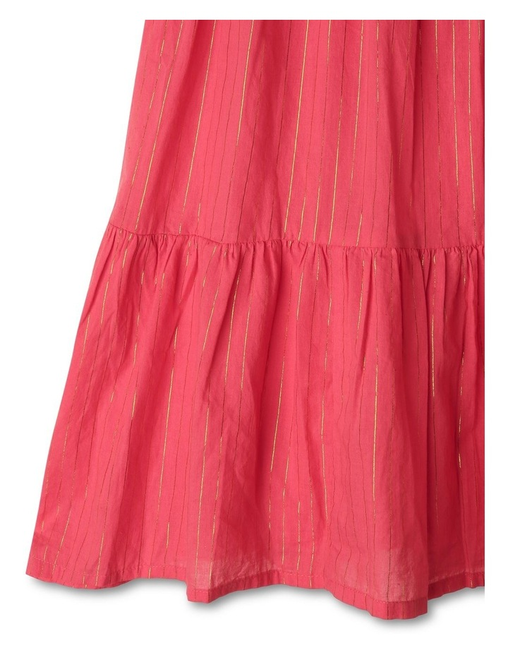 Woven Dobby Frill Neck Dress image 5