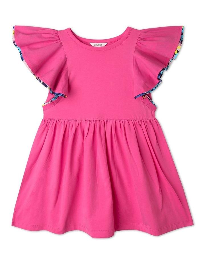 Knit Flounce Sleeve Dress image 1