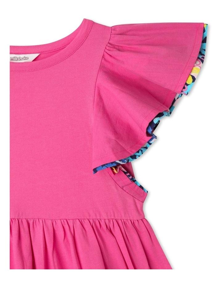 Knit Flounce Sleeve Dress image 2