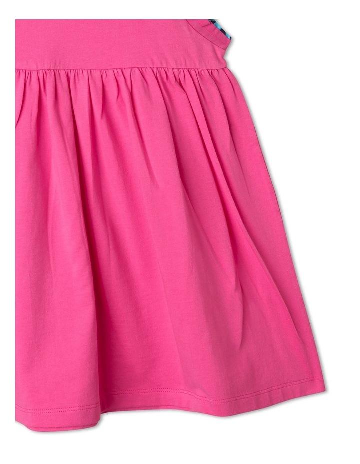 Knit Flounce Sleeve Dress image 3