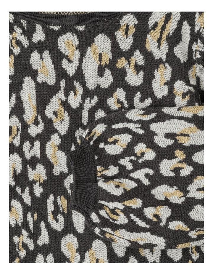 Lurex Knit Dress With Bishop Sleeve image 2