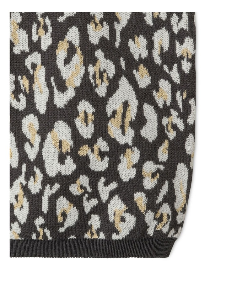 Lurex Knit Dress With Bishop Sleeve image 5
