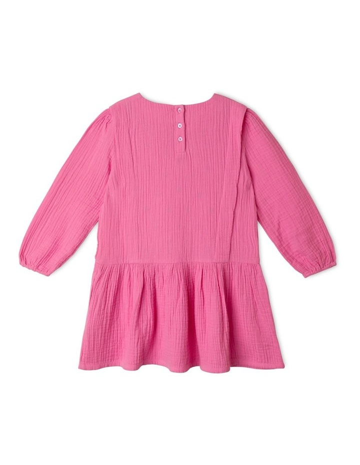 Woven Long Sleeve Drop Waist Dress image 4