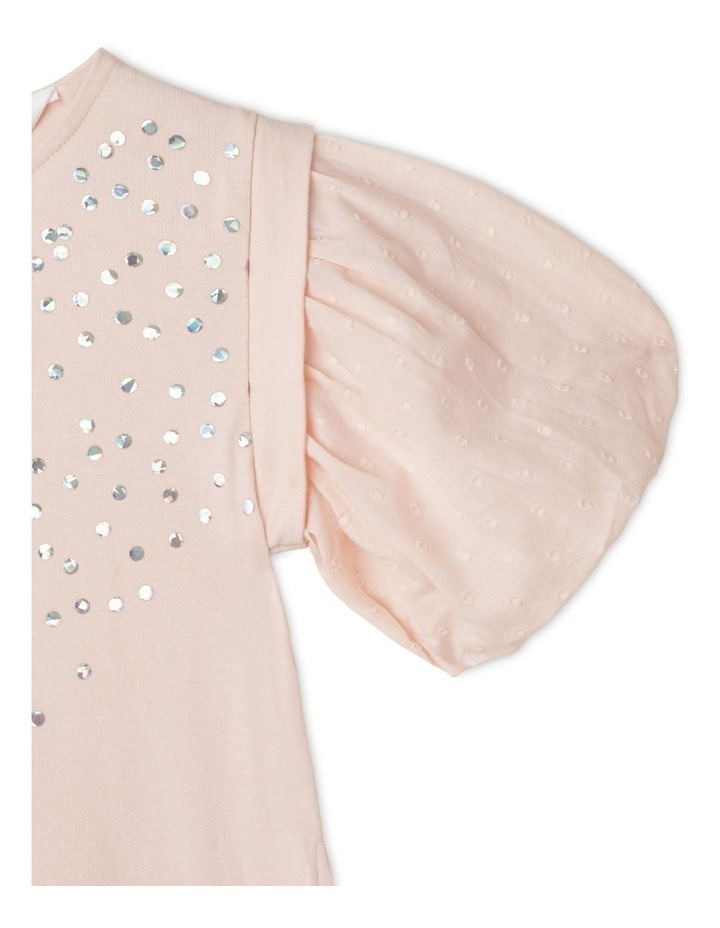 Knit A-Line Jersey Balloon Sleeve Dress image 2