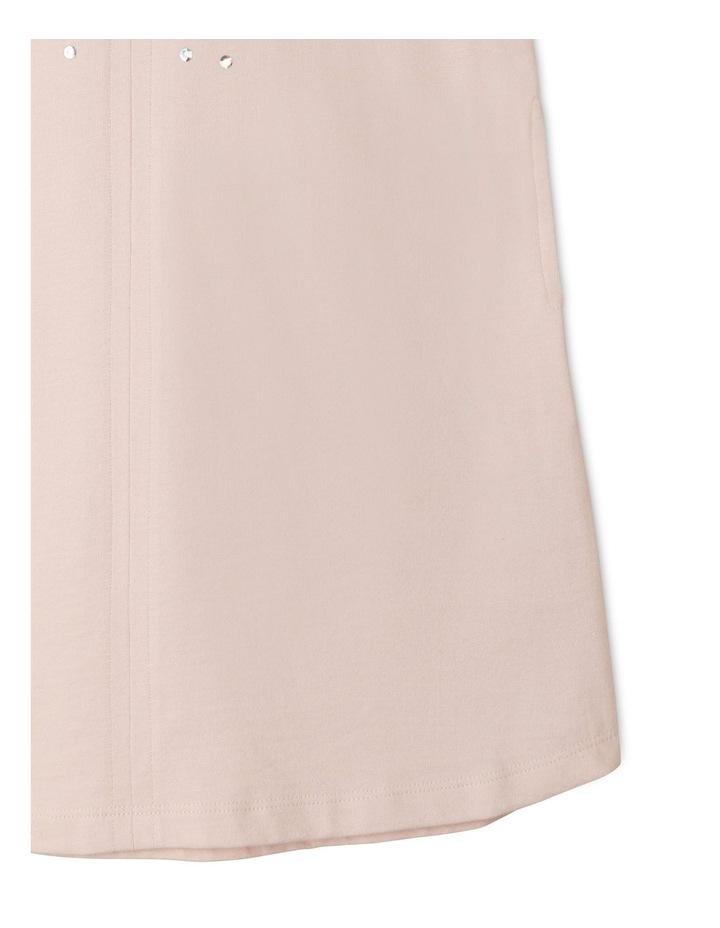 Knit A-Line Jersey Balloon Sleeve Dress image 4