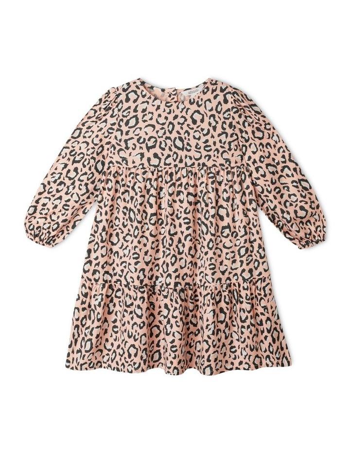 Woven Long Sleeve Multi Tier Dress image 1