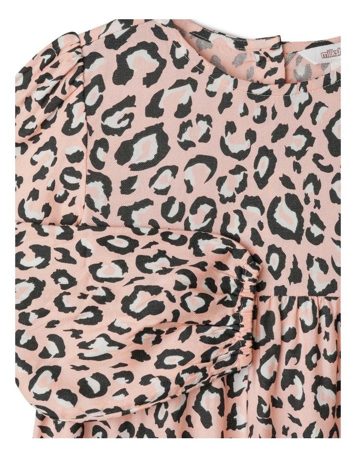 Woven Long Sleeve Multi Tier Dress image 2