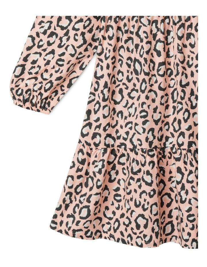 Woven Long Sleeve Multi Tier Dress image 4