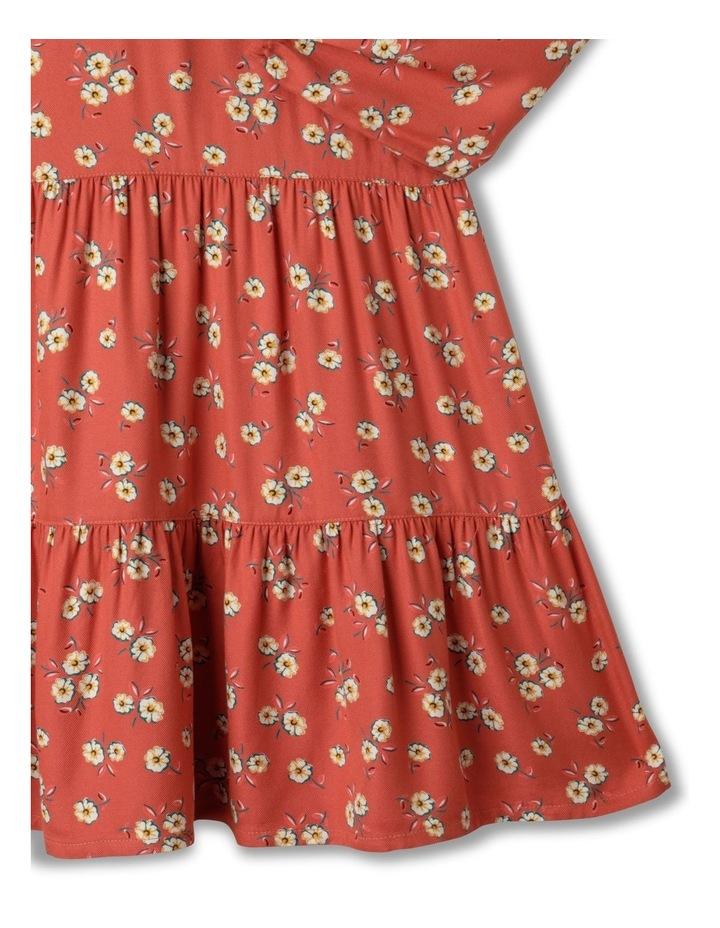 Woven Ruffle Viscose Tier Dress image 5