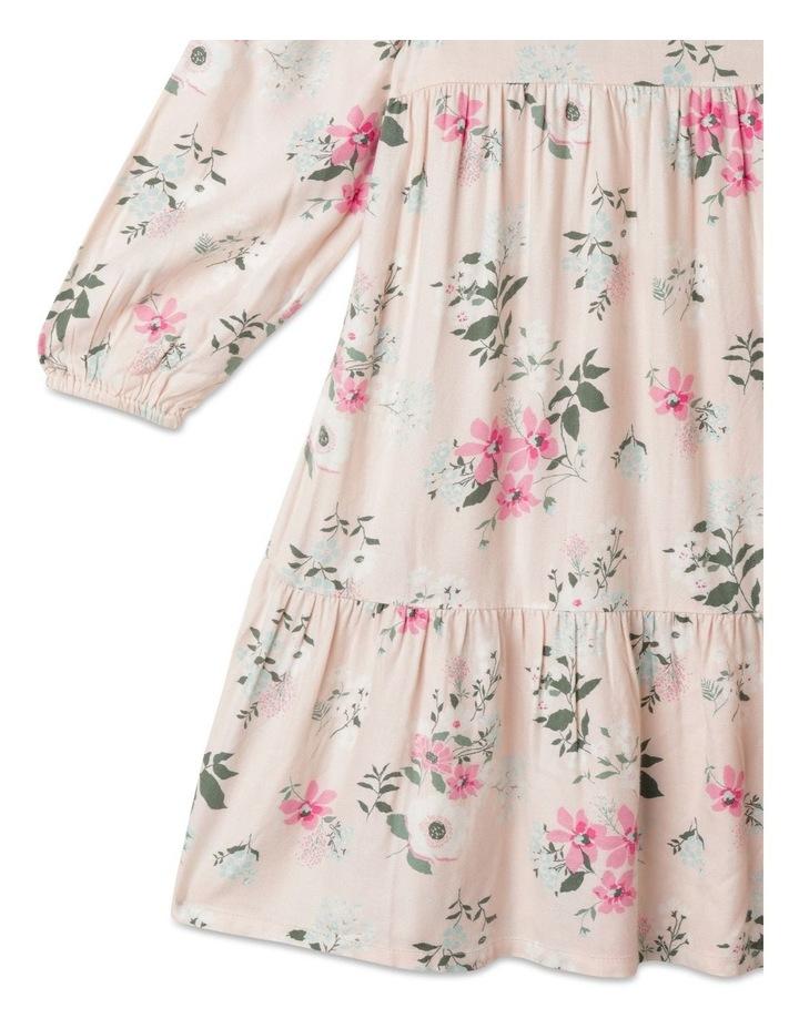 Woven Long Sleeve Multi Tier Dress image 3