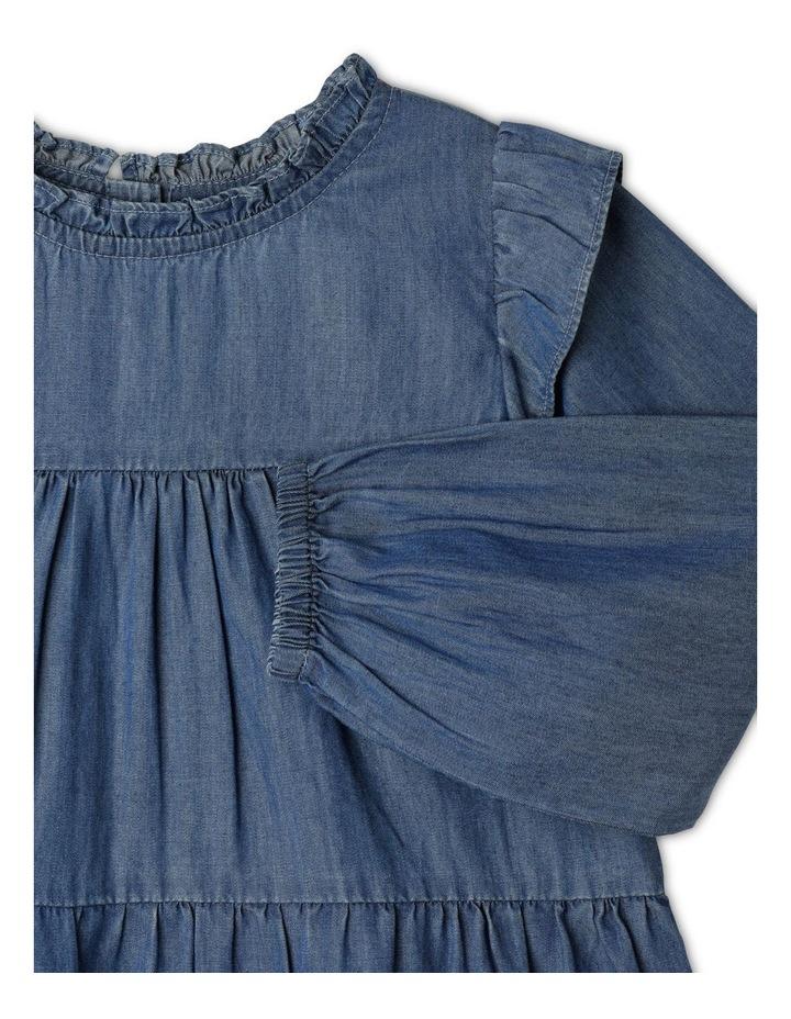 Chambray High Ruffle Neck Dress image 2