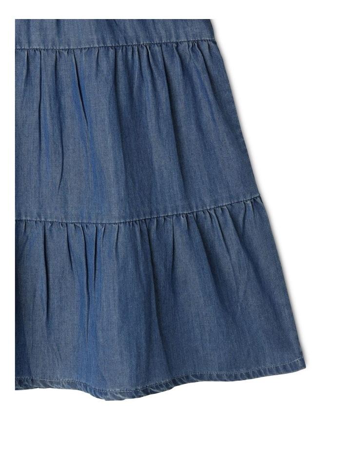 Chambray High Ruffle Neck Dress image 4