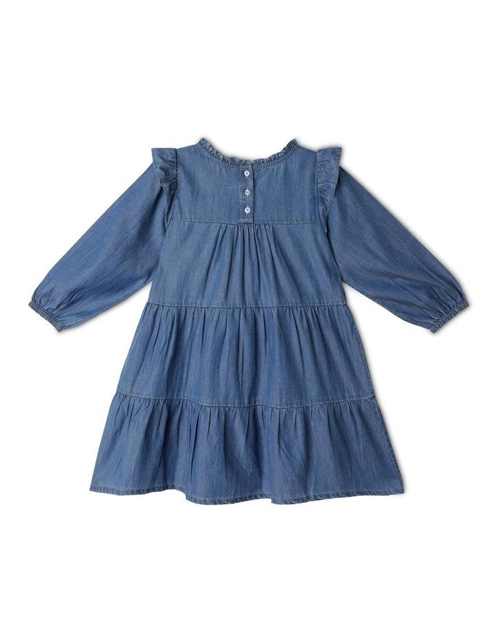 Chambray High Ruffle Neck Dress image 5