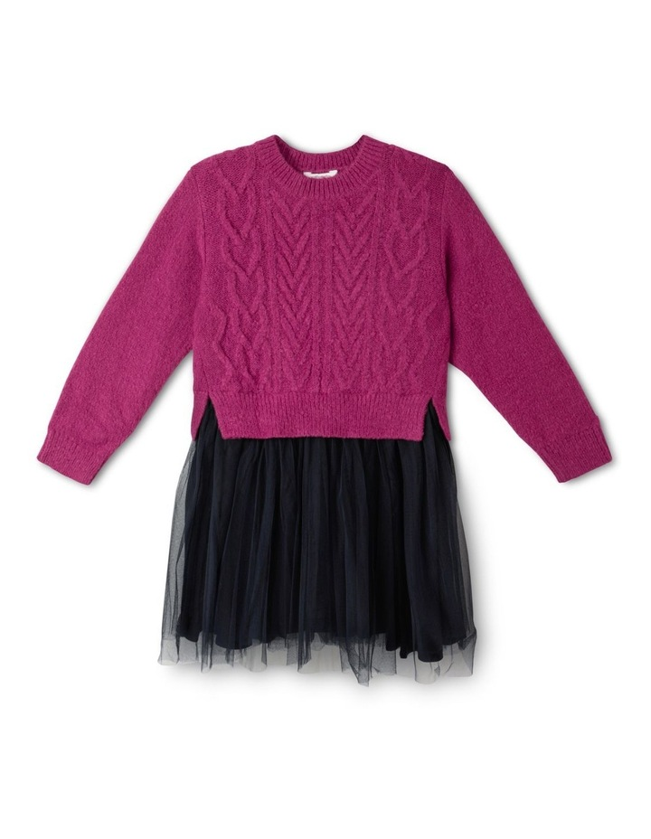 Knitted Dress With Tutu Skirt image 1