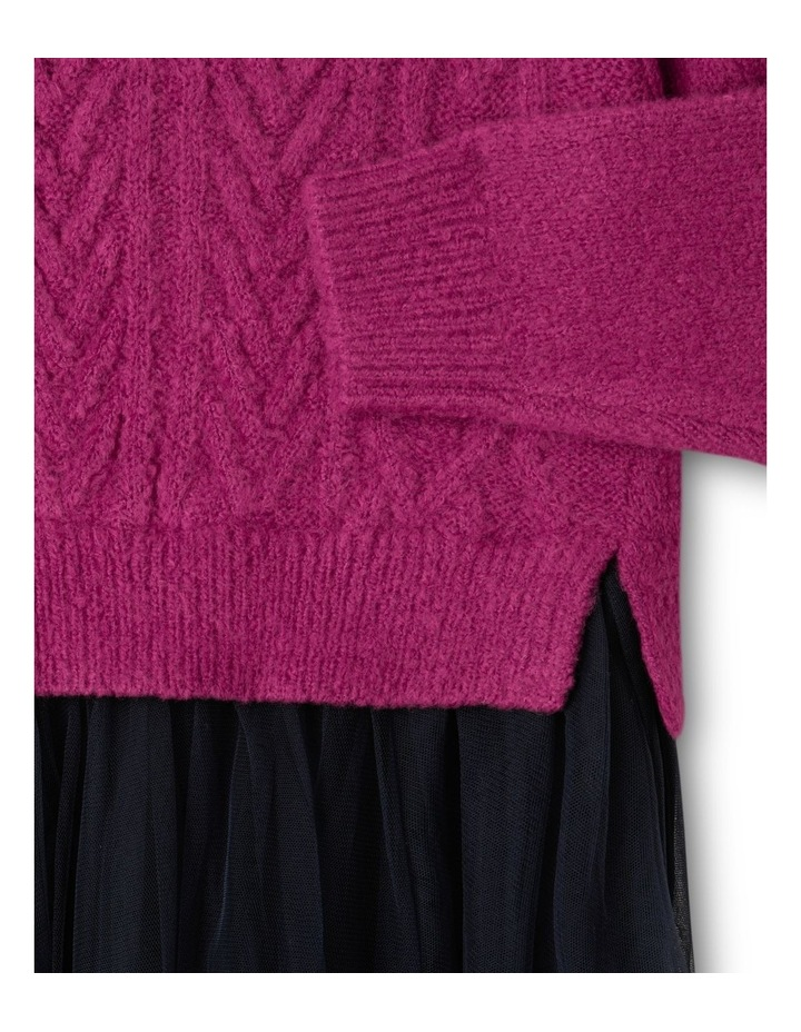 Knitted Dress With Tutu Skirt image 3