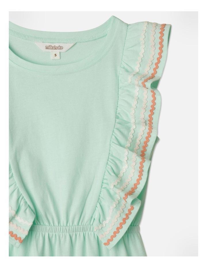 Ric Rac Ruffle Sleeve Dress Aqua image 2