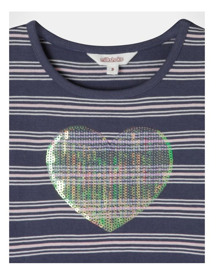Knit Stripe Flutter Sleeve Dress image 3
