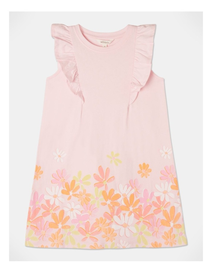 Knit Flutter Sleeve A-Line Dress image 1
