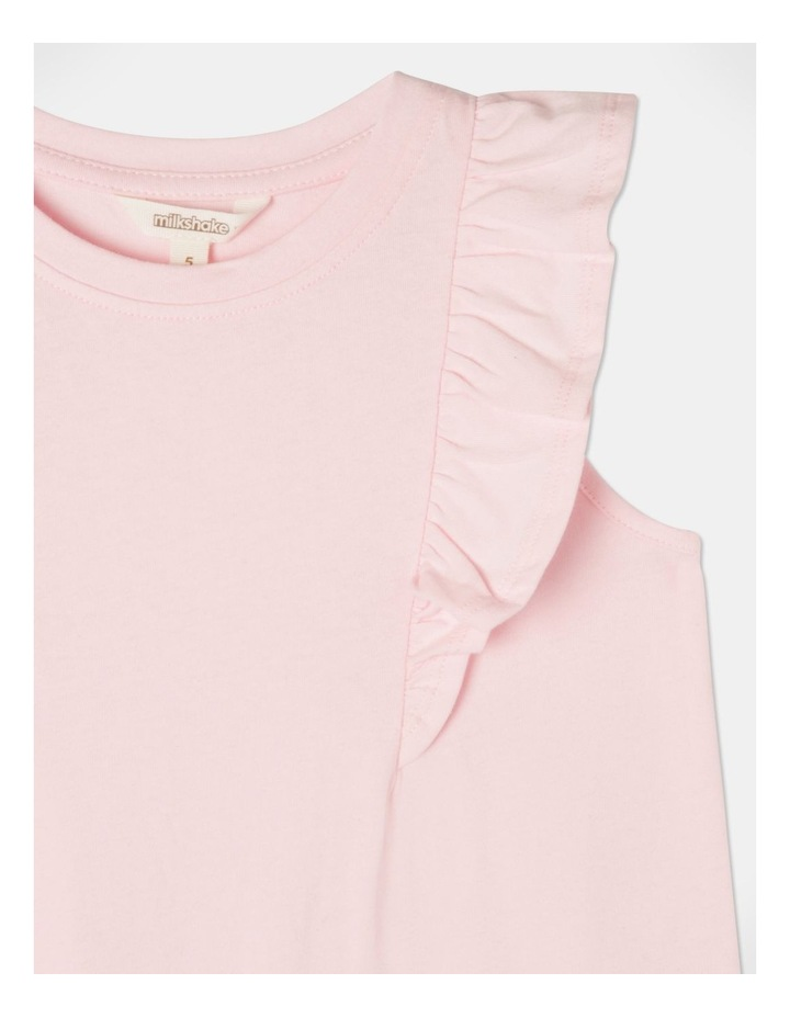 Knit Flutter Sleeve A-Line Dress image 2