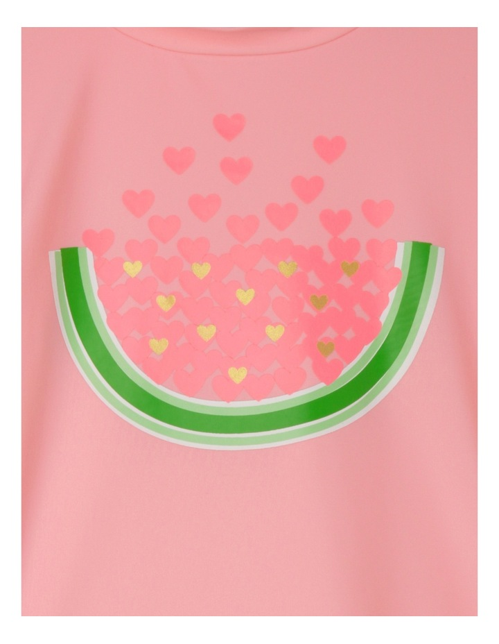 Watermelon and Heart Short Sleeve Rashvest Set - Neon Fizz / Candy image 2