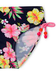 Milkshake - Navy Tropical Contrast Short Sleeve Rashvest Set with Pant.