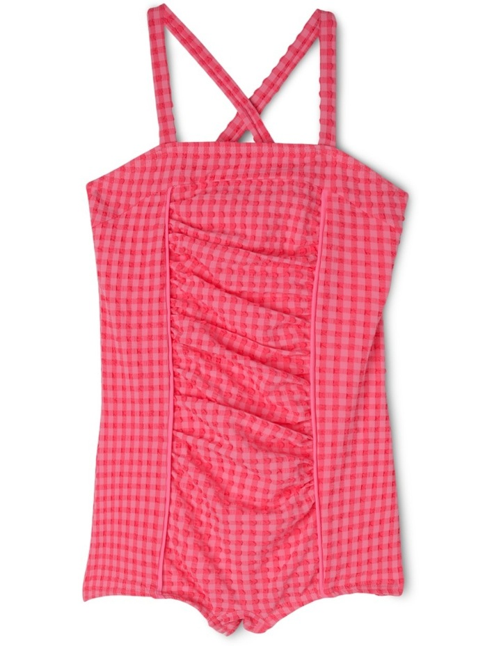 Ruched One Piece Gingham Bather image 1