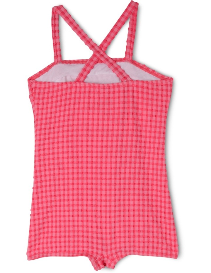 Ruched One Piece Gingham Bather image 2