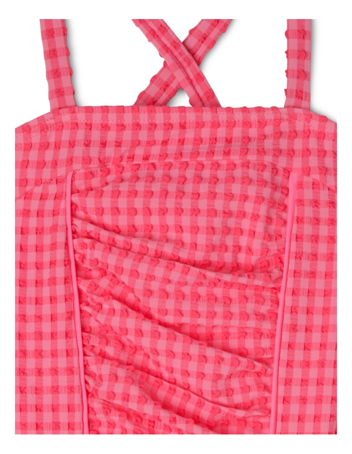 Ruched One Piece Gingham Bather image 3