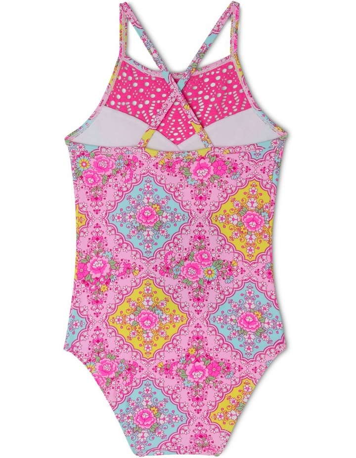 Lace Insert Halter One Piece Bather - Chlorine Resistant image 2