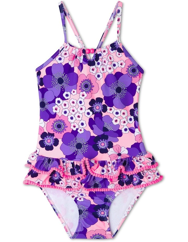 One Piece Bather with Frilled Bottom - Chlorine Resistant image 1