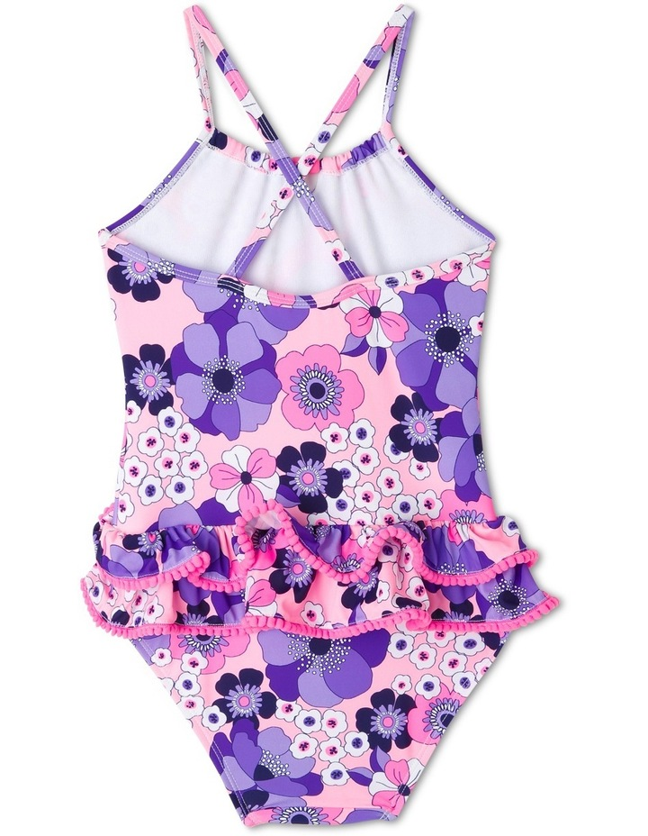 One Piece Bather with Frilled Bottom - Chlorine Resistant image 2