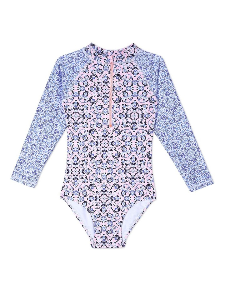 Long Sleeve One Piece Bather - Chlorine Resistant image 1