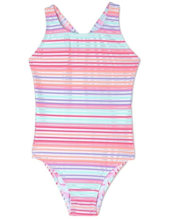 One Piece Bather with Ruffle Bum - Chlorine Resistant image 1