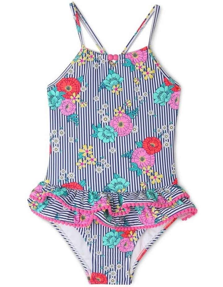 One Piece Bather with Double Frill Bum image 1