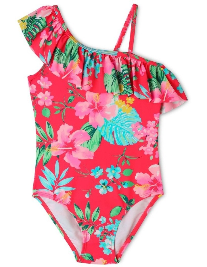 One Shoulder Frill One Piece Bather image 1