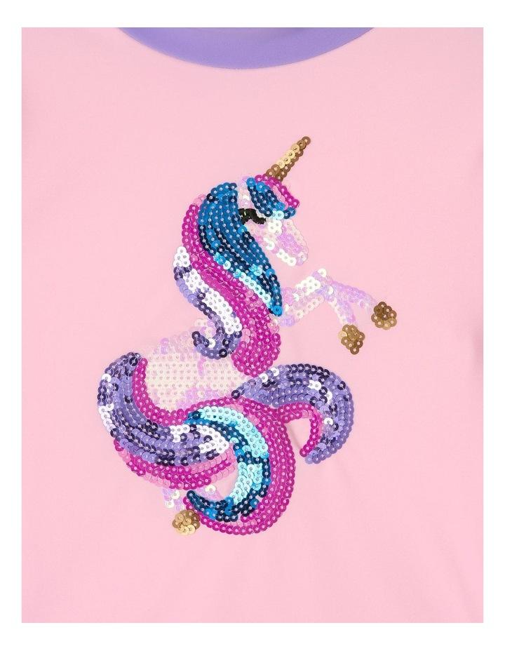 Sequin Unicorn Rashvest And Brief Set image 2