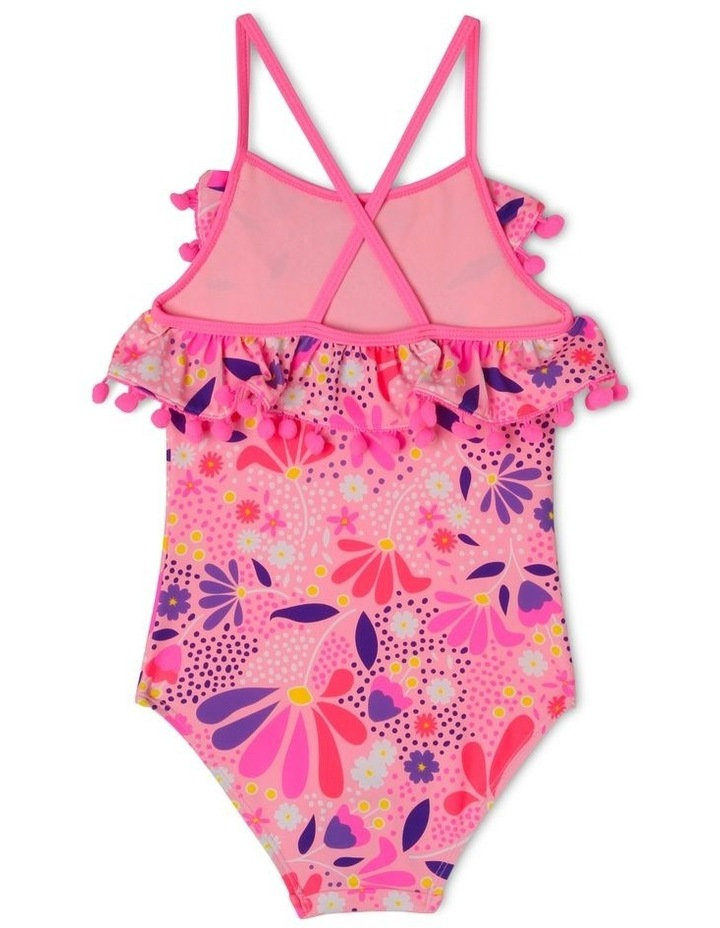 One Piece Bather with Frill and Pom Pom image 2