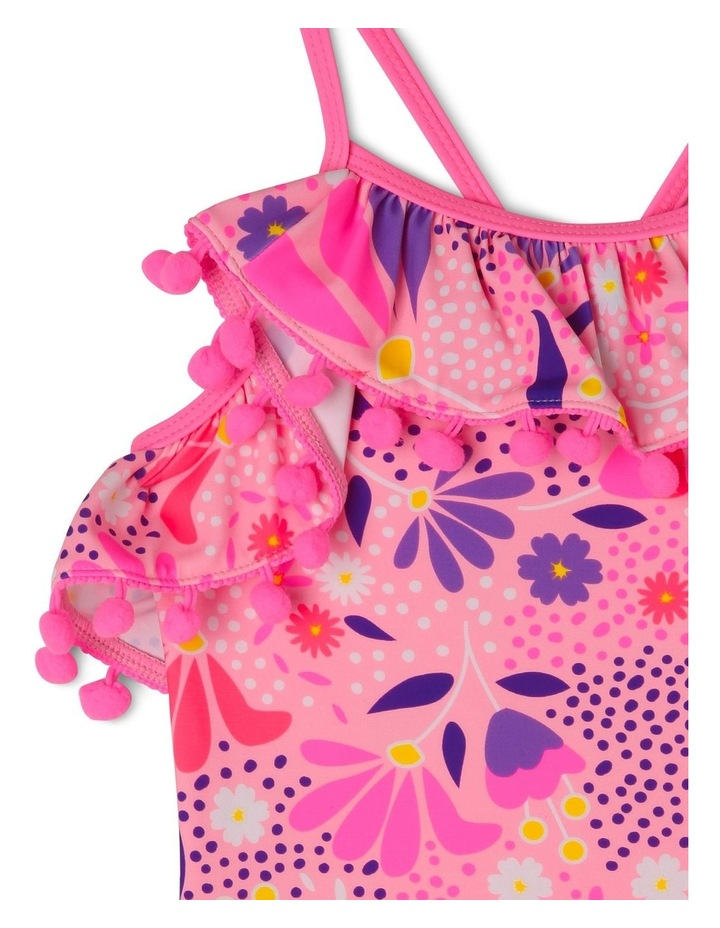 One Piece Bather with Frill and Pom Pom image 3