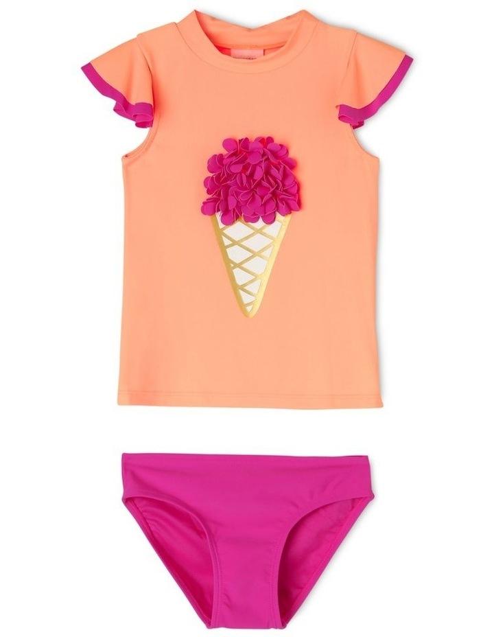 Short Sleeve Rash Vest Set with Flutter Sleeve image 1