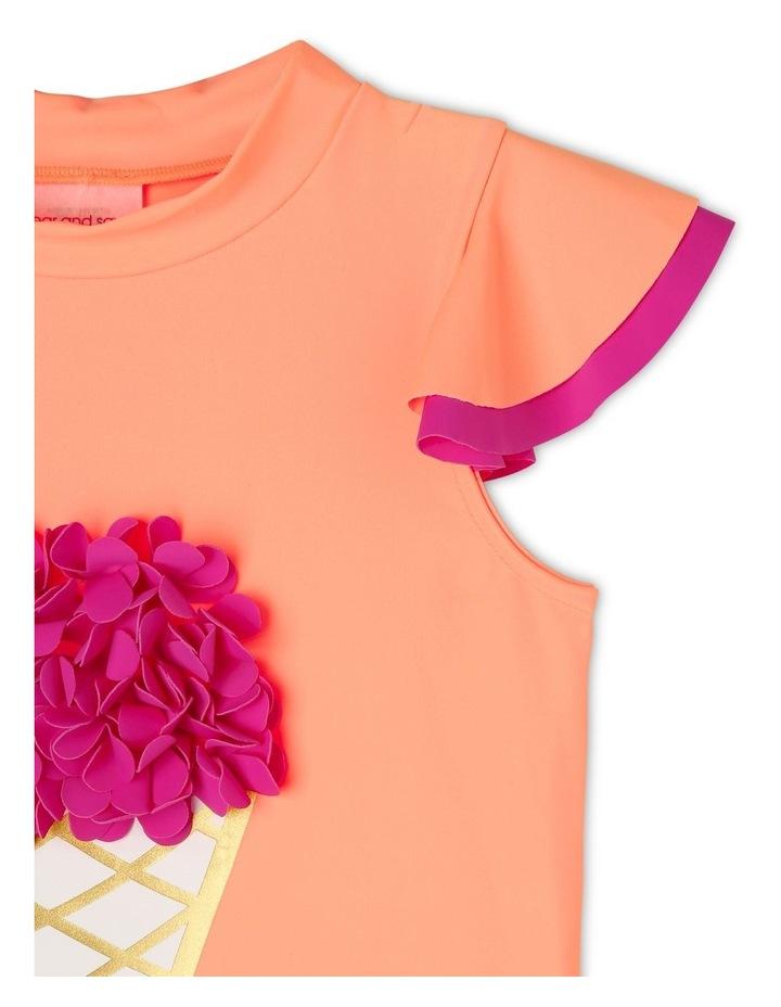 Short Sleeve Rash Vest Set with Flutter Sleeve image 2