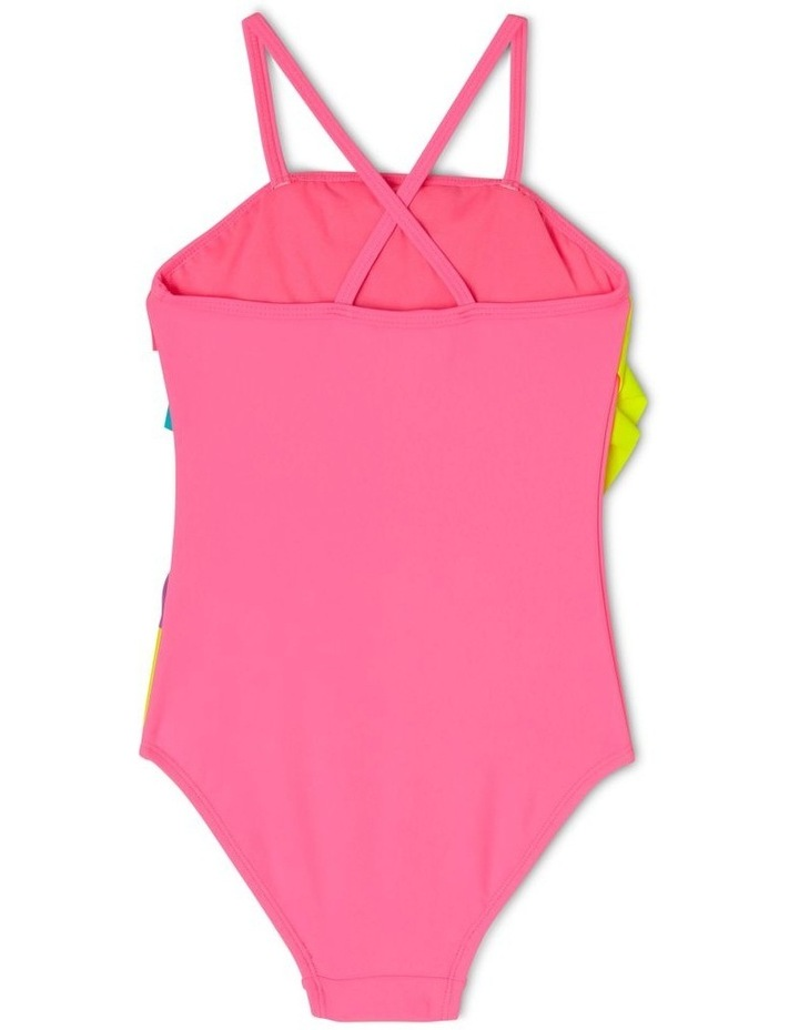 One Piece Swimsuit with Rainbow Frill image 2