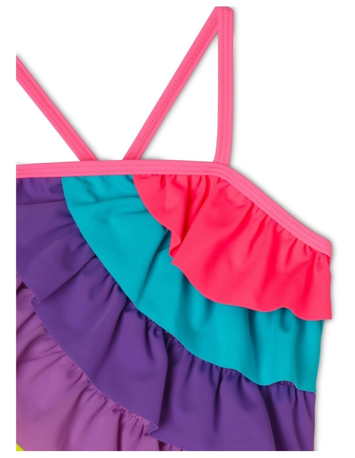 One Piece Swimsuit with Rainbow Frill image 3