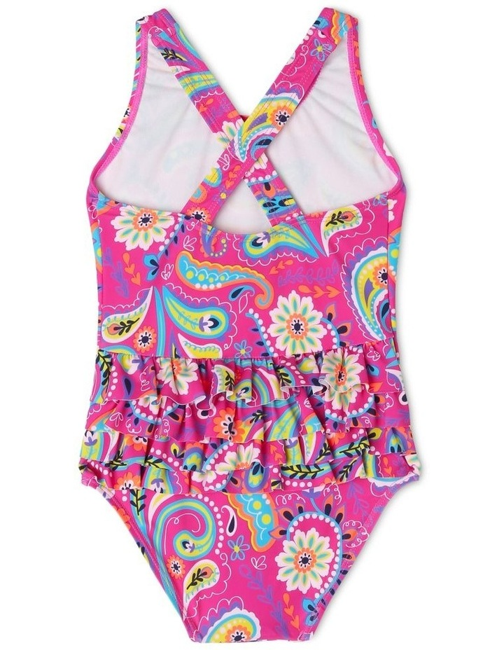 One Piece Bather With Ruffle Bum - Chlorine Resistant image 2