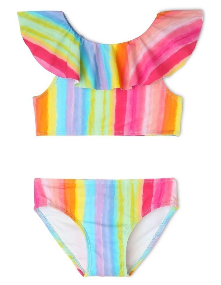 Frill Overlay Bikini - Rainbow Print image 1