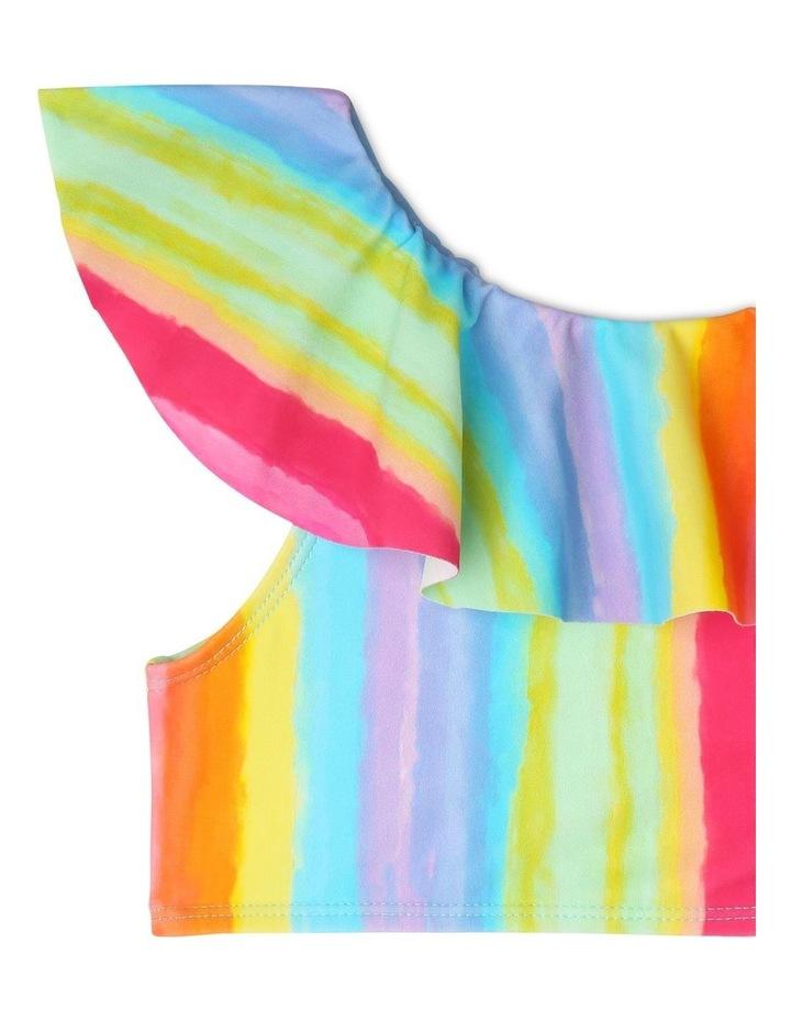 Frill Overlay Bikini - Rainbow Print image 2
