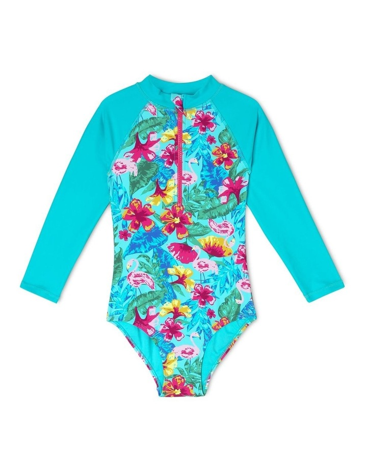 Long-Sleeve One-Piece Bather image 1