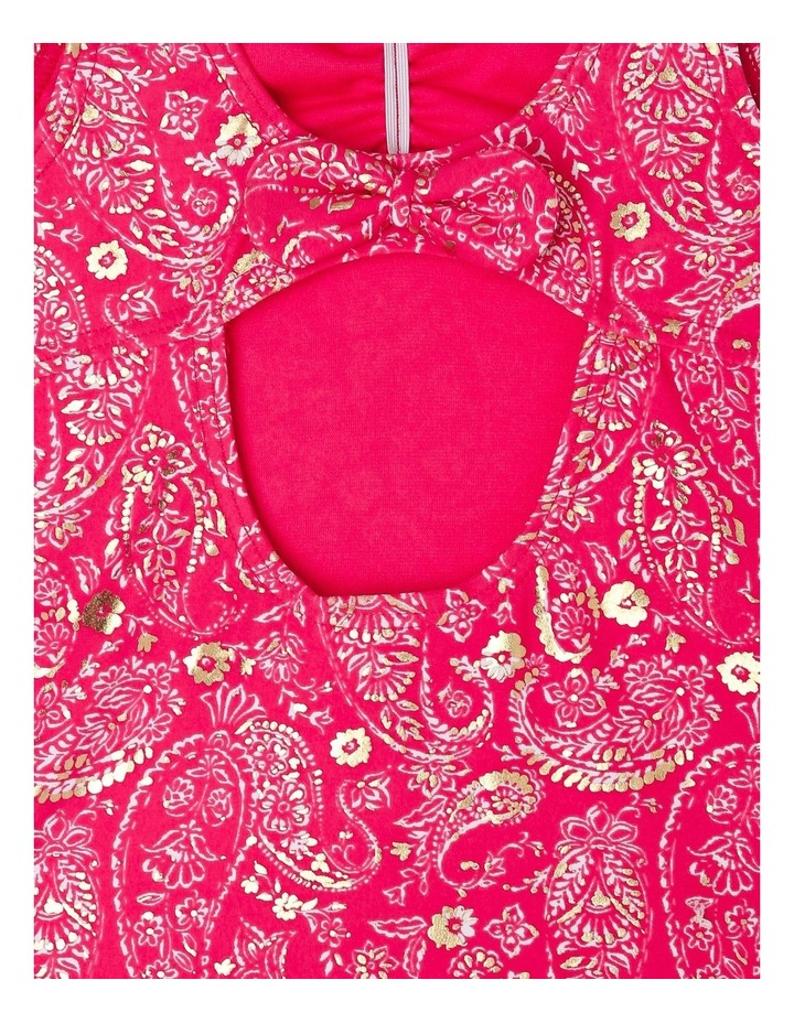 One-Piece Gathered-Front Bather - Paisley/Red image 3