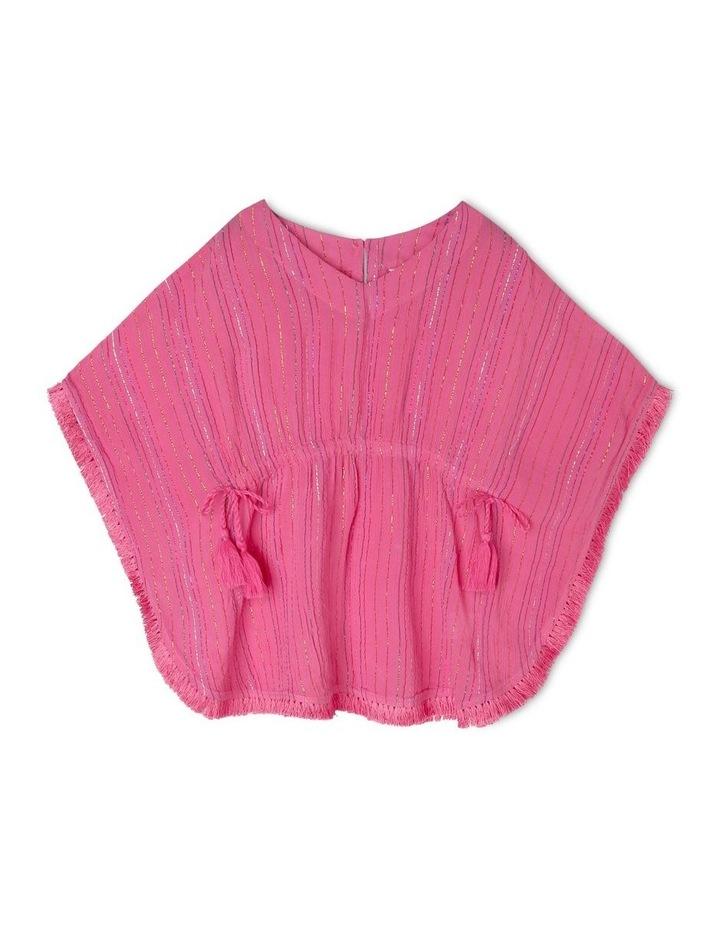 Woven Rainbow Lurex Kaftan - Pink image 1