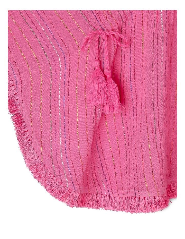Woven Rainbow Lurex Kaftan - Pink image 2