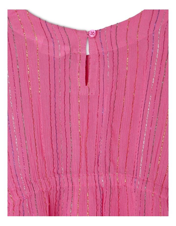 Woven Rainbow Lurex Kaftan - Pink image 4